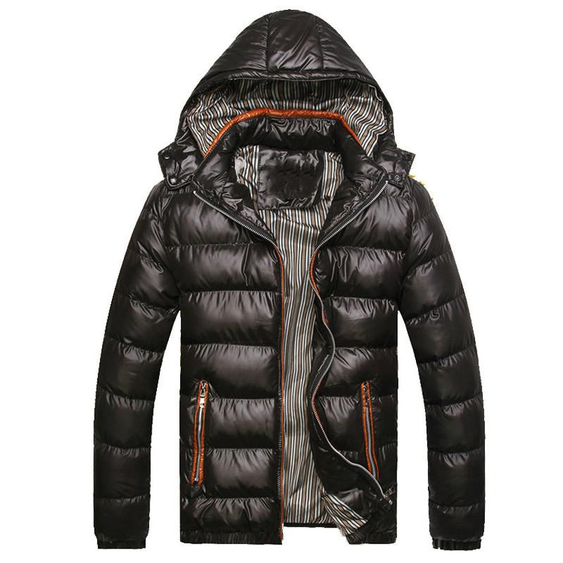 Kapüşonlu erkek Kış Ceketler Casual Parkas Erkekler Mont Kalın Termal Parlak Mont Slim Fit Marka Giyim 7XL SA045 CX200814