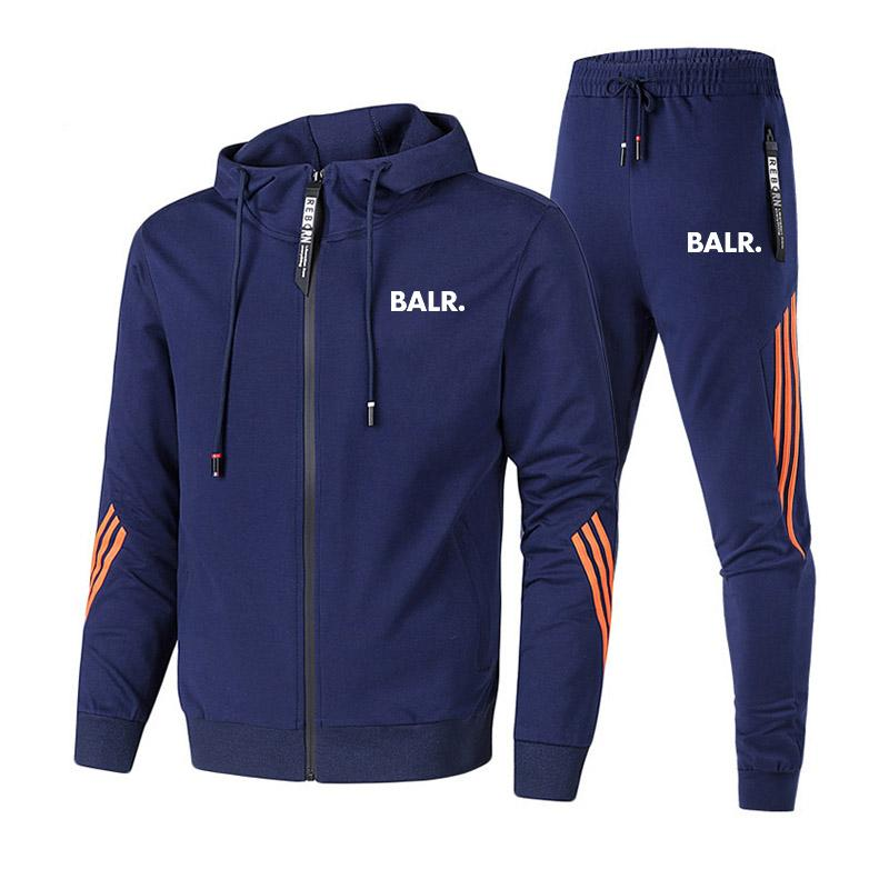 Ternos Esportes Fatos Sport Mens terno dos homens marca executando Suit Plus Size Mens de Fitness Jogging Ginásio Homens Treino Set