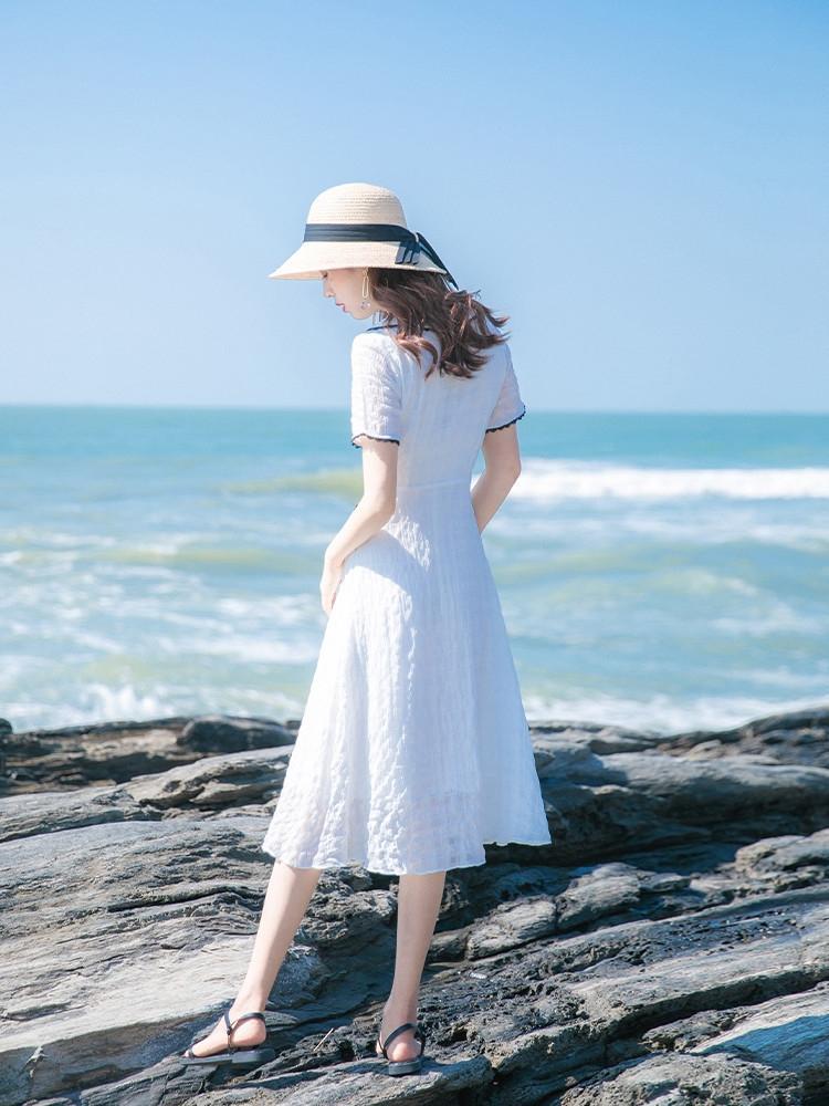 VlL02 IxOJl 2020 Sommer neu Neues Kleid Rock Licht reifen elegant im westlichen Stil Ei Französisch erste Liebe Kleid Hepburn-Stil Rock