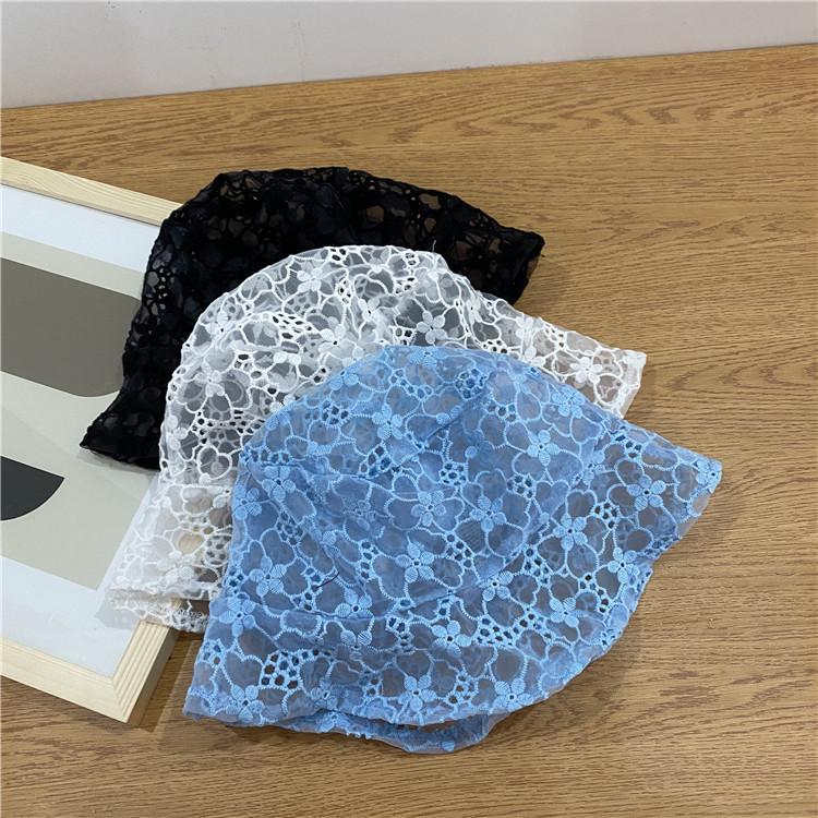 Японский стиль Мягкий шнурок Bucket Hat вышивки Цветок выдалбливают ВС Hat дышащий Весна Лето Путешествия Улица Складная ВС Cap