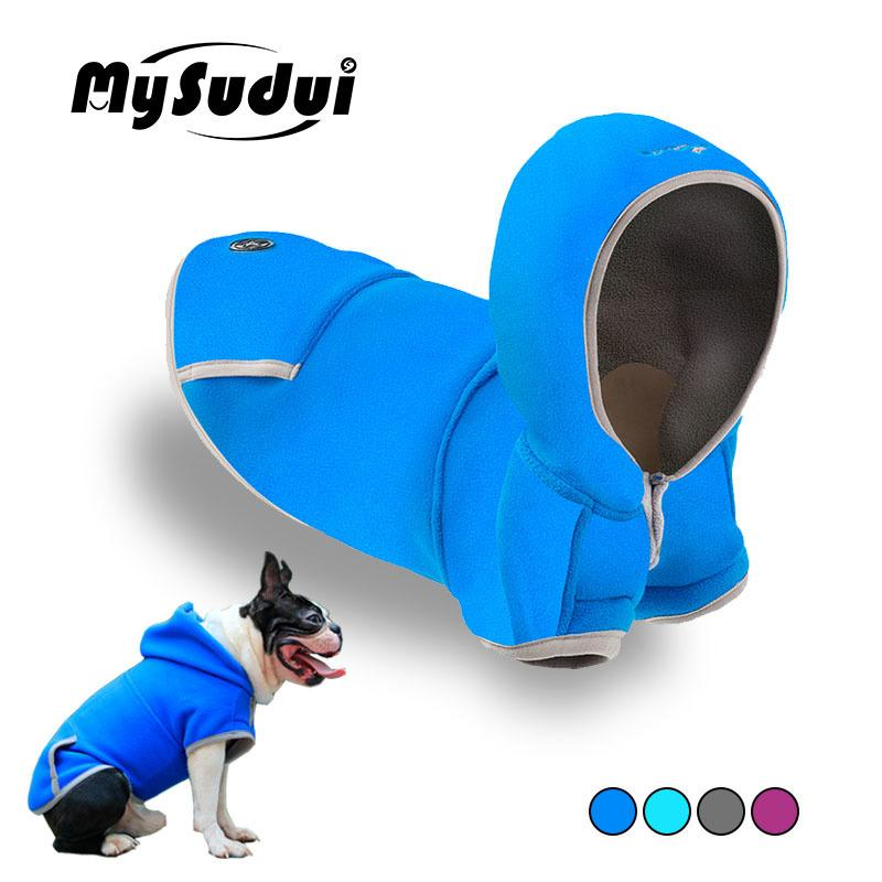MySudui Hoodie Dog Clothes Winter For Small Dogs Chihuahua French Bulldog Christmas Fleece Dogs Jacket Coat Winter Warm Dog Coat