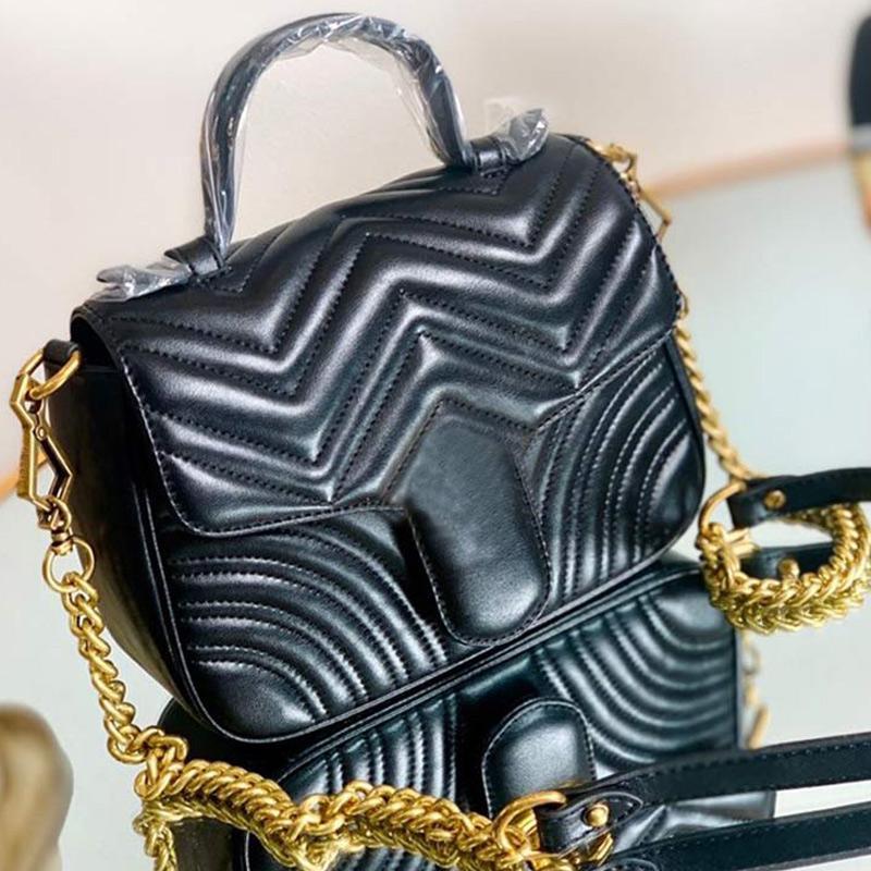 High Quality Messenger Bag Heart Wave Design Quilted Bag Women Handbags Purse Genuine Leather Chain Shoulder Bag interlock letter Hand Bags