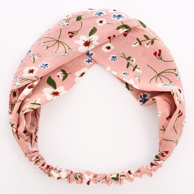 Coreano moda Croce faccia lavare fascia per capelli trucco fascia elastica dolce fresco accessori per capelli girasole delle donne nYwr5