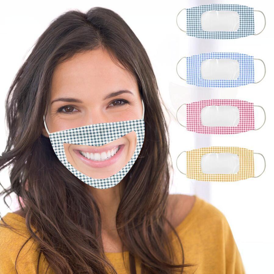 Глухонемой Aascarillas Прозрачный пылезащитный респиратор Mouth крышки Женщины Мужчины защитные крышки Косплей костюмы Маски DDA232-1