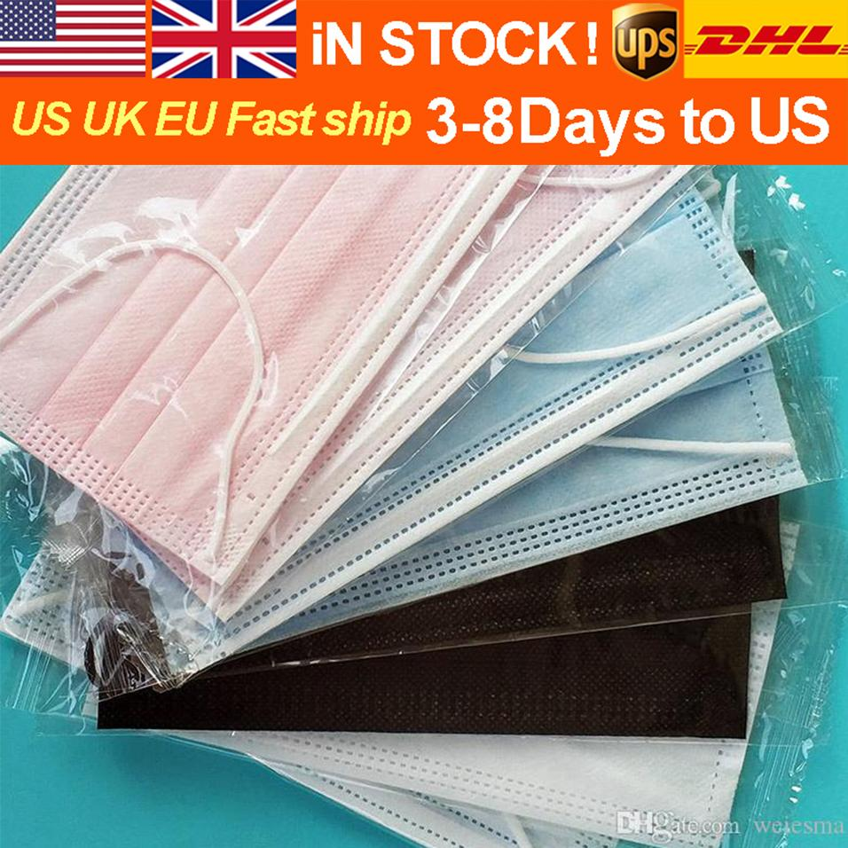 FREE DHL/UPS In Stock Individually Packaged with 3-Layers of Melting and Spraying Cloth, Dust Proof and Haze Proof Respirator Disposable M