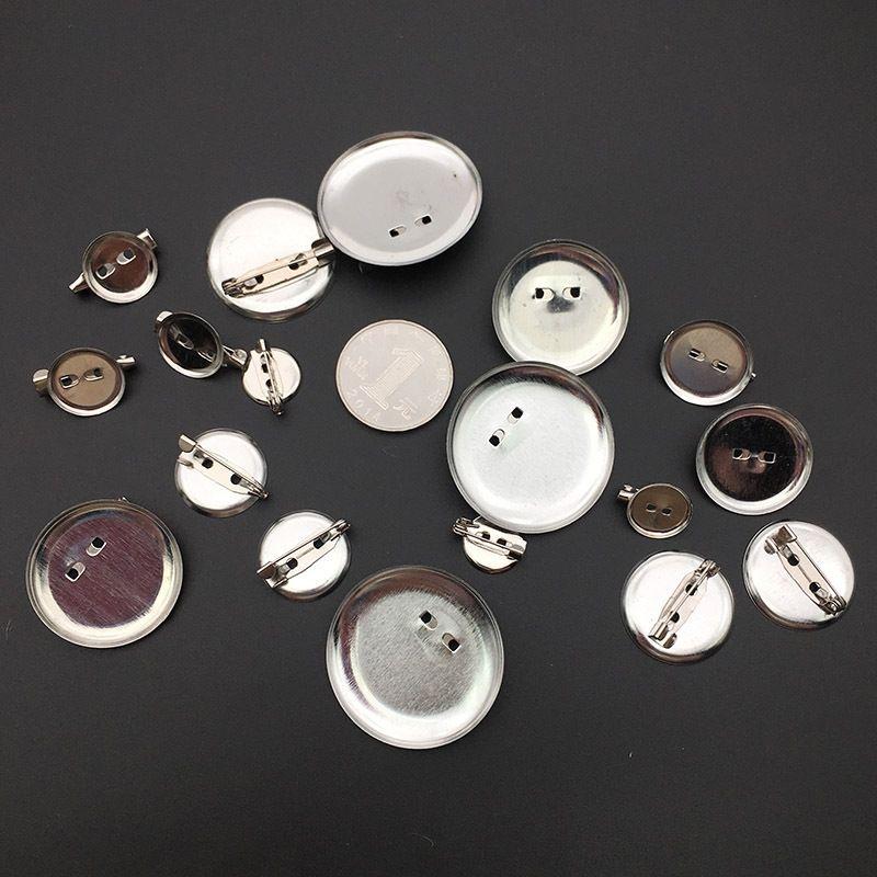 rCiOM Safety Diy Bie Zhen Tray pin brooch tray metal simple round plate pin bottom diy brooch accessories corsage hair accessories