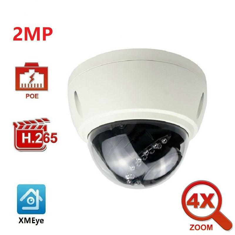 Fotocamera da 2 megapixel con zoom ottico 4x IP della cupola della videocamera di sicurezza dell'interno rete del CCTV grandangolare IR 30m ONVIF