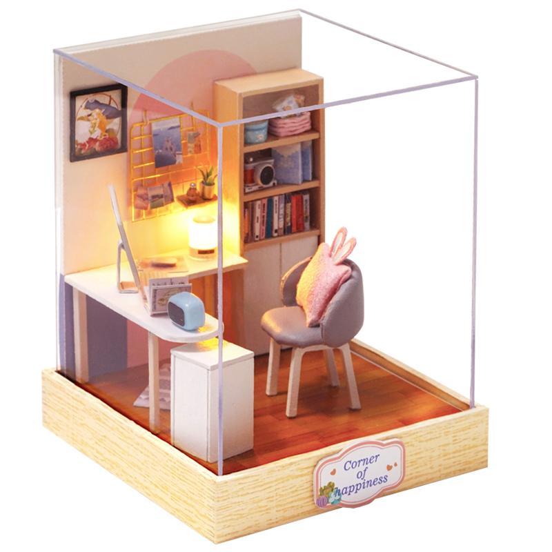 Casa de muñeca de madera de DIY casas de muñecas en miniatura de muebles Dollhouse Kit Casa juguetes de la música F o regalos de cumpleaños de los niños de Navidad QT30 Y200317