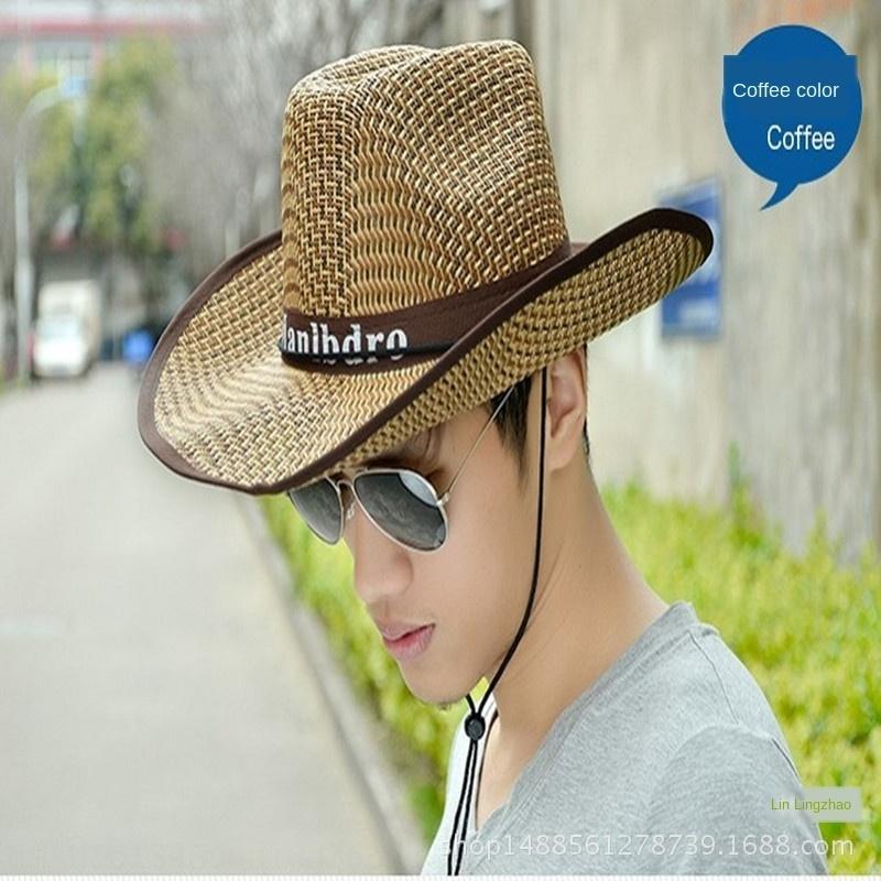 Straw erkekler yaz Straw erkekler Plaj güneş açık güneş şapkası geniş plaj şapkası