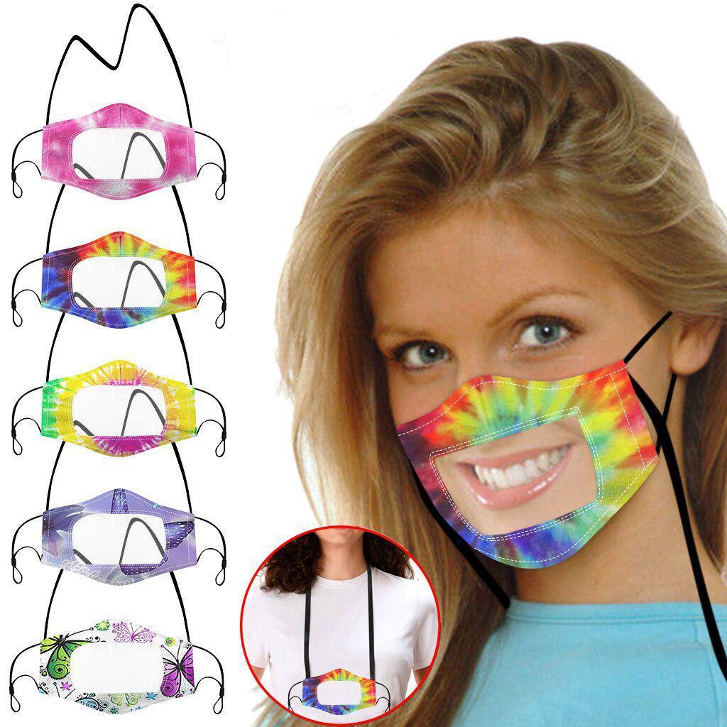 DHL Livraison Mode sourds-muets Masque visible Langue Masque lèvres PM2,5 Soins du Visage Visage Masques Couverture de montage extérieur Masque bouche Anti-poussière L575FA