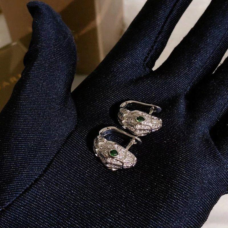 Luxo alta qualidade de cor prata CZ diamante animal Brincos de ouro 18k mulheres banhado desenhador festa de jóias