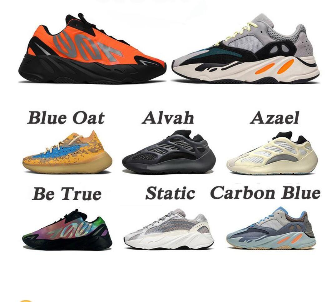 New Kanye West 700 V2 Wave Runner Azael Alien Blue Oat Mist Vanta Running Shoes 380 Men Women 700s Outdoors Sneakers Sports Trainers