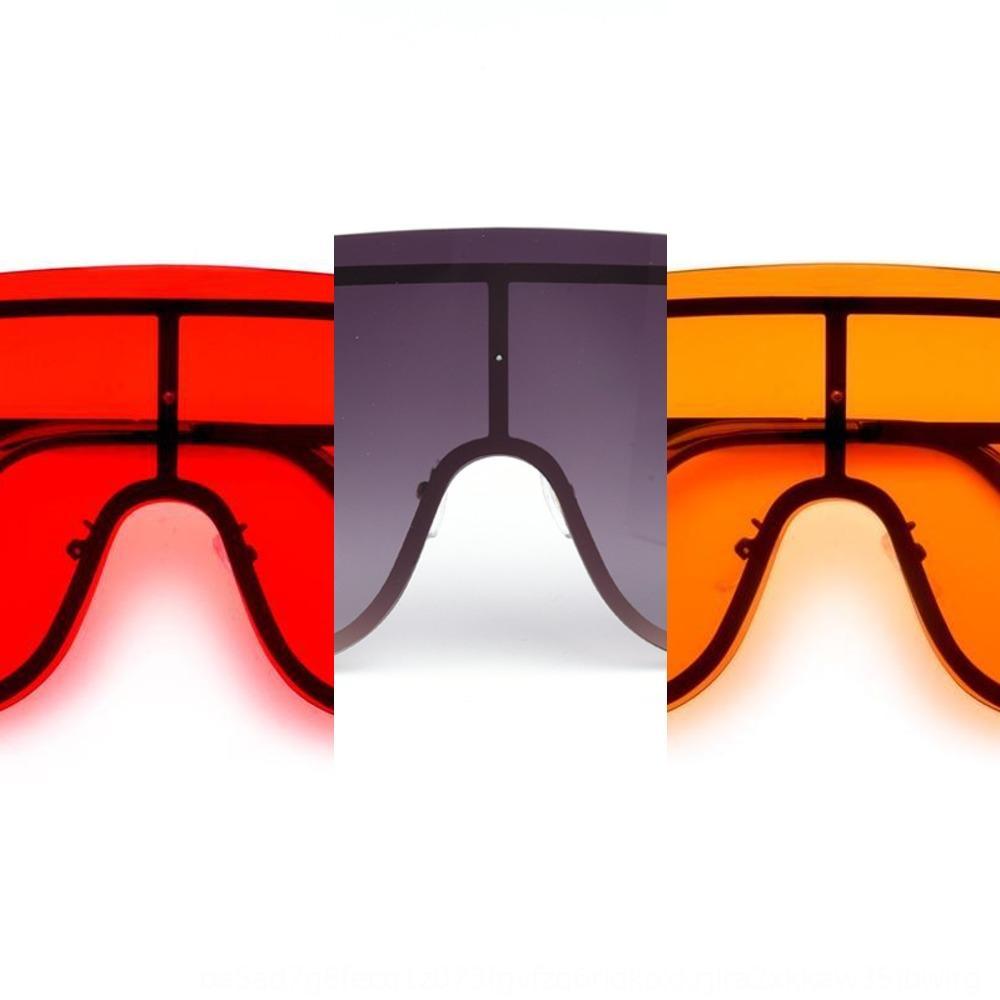 Новый персонализированного большой кадр солнцезащитного цельных очки женской бескаркасный цельный очки Зонт моды