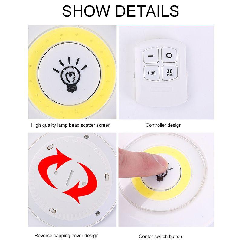 Luzes de LED Dimmable Luzes Com Controle Remoto Operado LED sob Gabinete Light Wardrobe Cozinha Iluminação Lâmpada