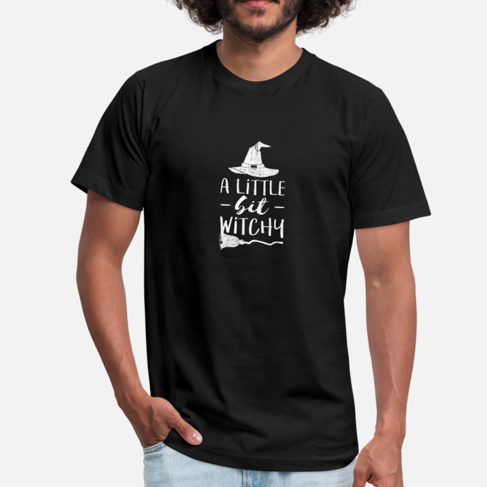 Ein bisschen Witchy Halloween-Entwurf für Männer Frauen Kinder T-Shirt Männer Geschenk Kurzarm Rundhals-kühles Geschenk der neuen Art-Frühling-dünnen