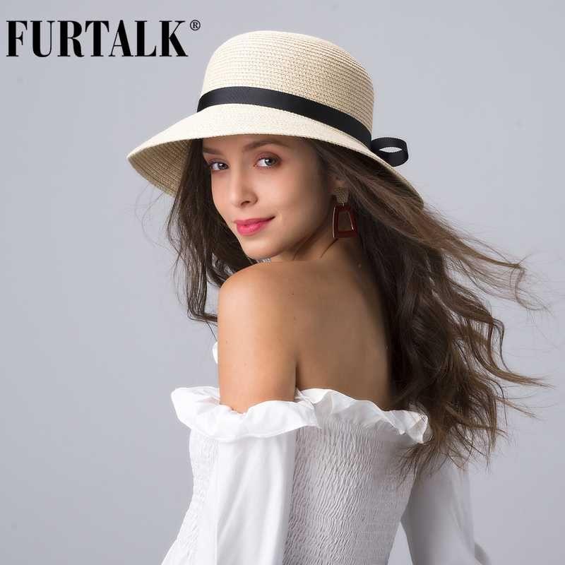 FURTALK Summer Beach Hat для женщин Стро Sun Hat