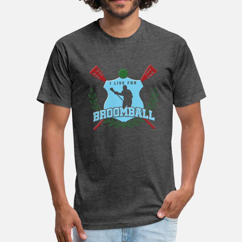 Ich lebe für Broomball Torwart Ice Rink-Spiel-Geschenk T-Shirt Männer kurze Hülse S-3XL Verrückte Mode Frühling Trend Shirt kühlen