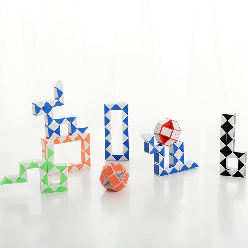 01 transfrontaliera hot-vendita creativa di puzzle 24-segmento magia righello per bambini fabbrica intelligenza pieghevole deformazione cubo diretta all'ingrosso