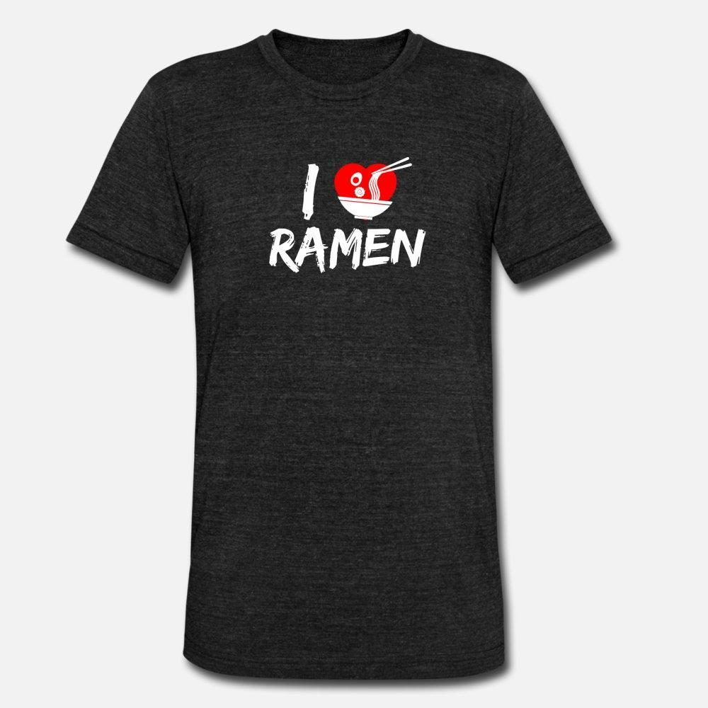 Io amo il giapponese Ramen regalo di Kawaii Anime uomini della maglietta maglia manica corta rotonda Collare Lettere luce solare camicia divertente primavera Lettera
