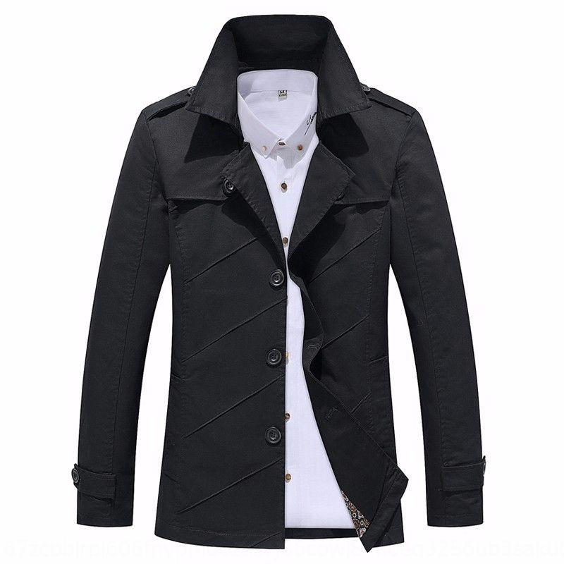MTDPF 2019 La nuova produzione autunno 2019 cappotto moda casual di mezza età della moda di mezza età autunno business casual Nuovo