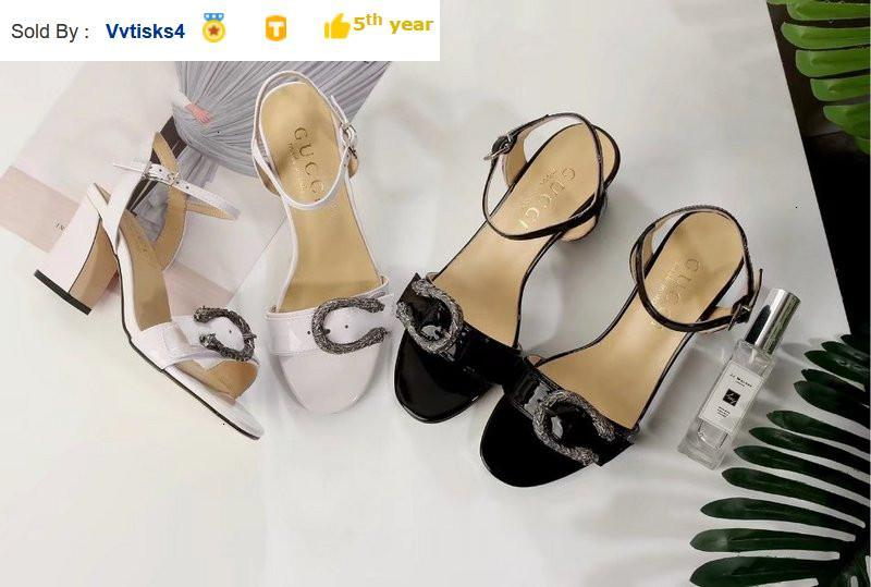 8052 patent leather metal buckle sandals Casual Handmade Walking Tennis Sandals Slippers Mules Slides Thongs
