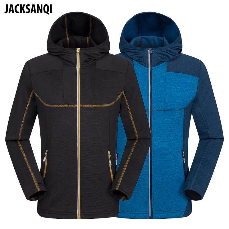JACKSANQ Männer Wandersoftshell Jacke Outdoor-Sport Fleece Windjacke Thermal Klettern Camping Trekking Skifahren männlicher Mantel RA332