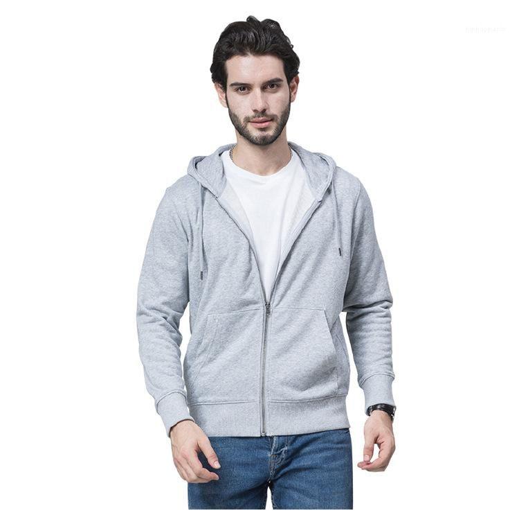 Entwerferhoodies-O Ansatz Reißverschluss Sweatshirts Fashion Pure Color Langarm-Cardigan Pullover Mens Lässige Kleidung Herren