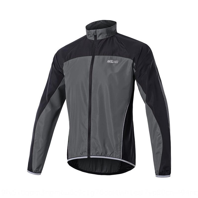 ARSUXEO AI Suo correspondência de cor fina ao ar livre casaco de pele de execução 016 blusão blusão Revestimento dos homens desportivos