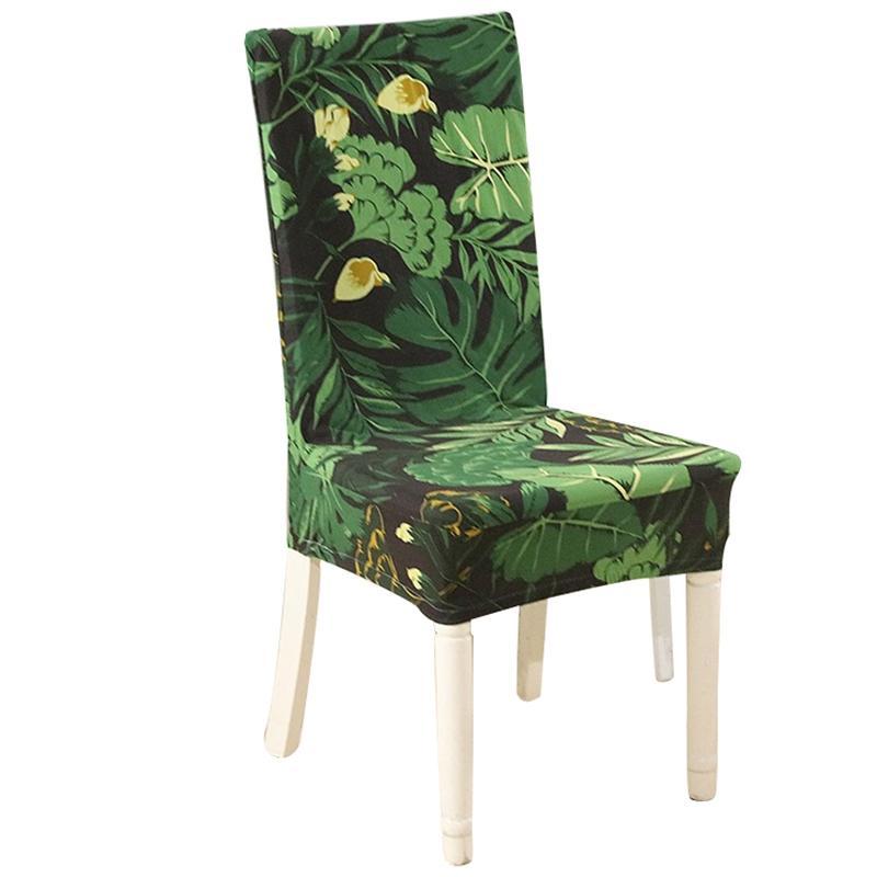 2pcs Chair Color solide couverture Spandex extensible élastique Slipcovers housses de chaise pour salle à manger Cuisine mariage Banquet Hôtel
