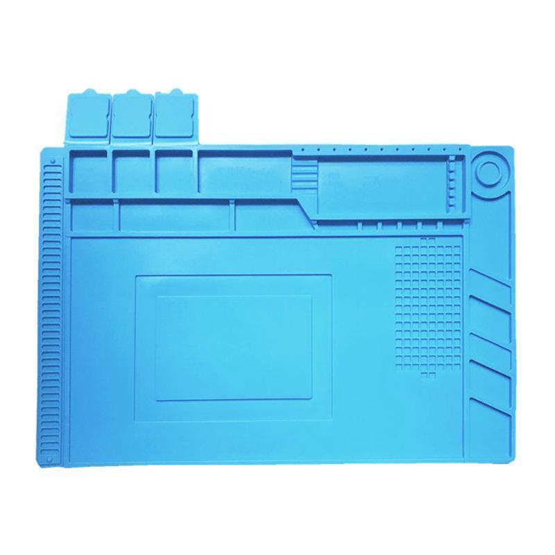1pcs Entretien Mat Bleu Réparation silicone Tableau soudure Isolation pratique Mat Outils à souder portable silicone