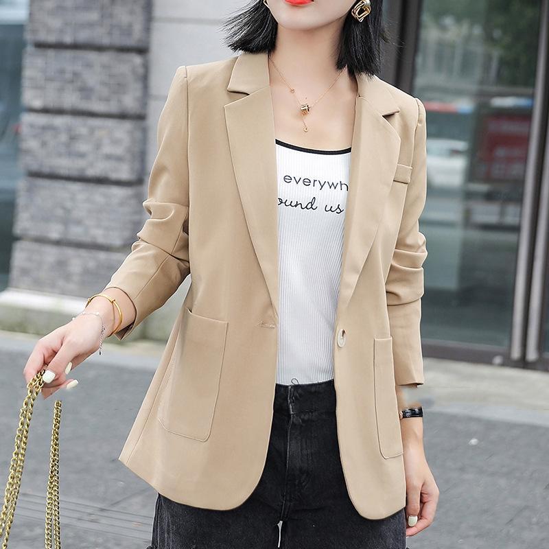 Малый костюм 2020 осень нового взрослой одежды пальто Корейского стиля короткого костюм женщины вскользь пальто женской партии VYgT1