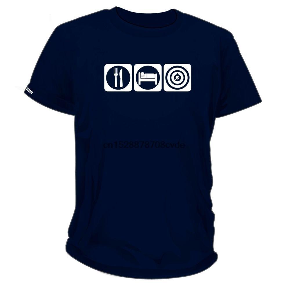 100% Dimensione manica corta da uomo in cotone Abbigliamento Inoltre Eat Sleep Spara unisex T-shirt Tee Shirt