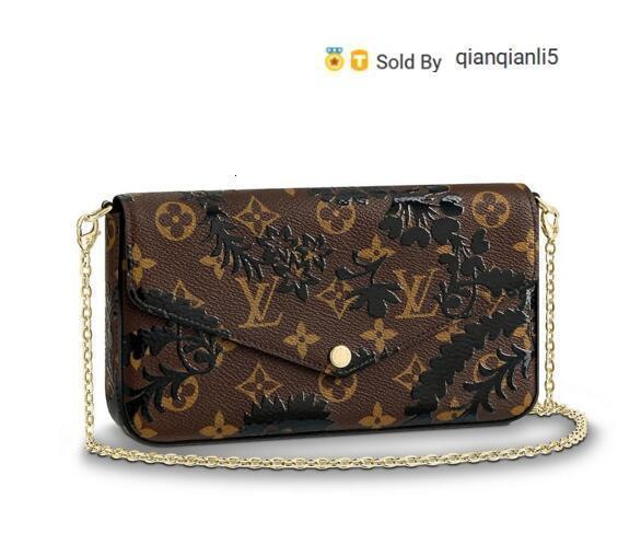 qianqianli5 8XV6 M62468 NEW WOMEN FASHION SHOWS EXOTIC LEATHER BAGS ICONIC BAGS CLUTCHES EVENING CHAIN WALLETS PURSE