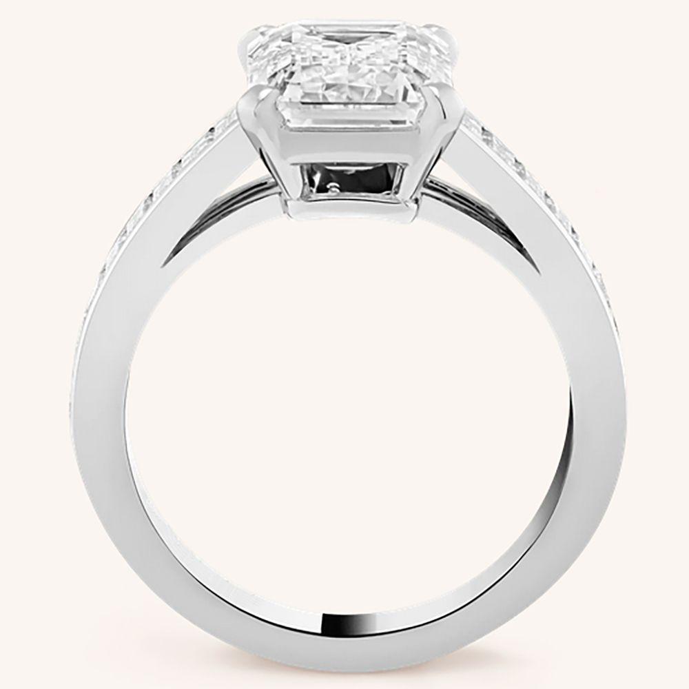 14k Au585 White Gold Ring Women Wedding Anniversary Engagement Party Ring Rectangle Emerald Moissanite Diamond Elegant Trendy Mens Rings Cheap Engagement Rings From Dianring 1 039 52 Dhgate Com