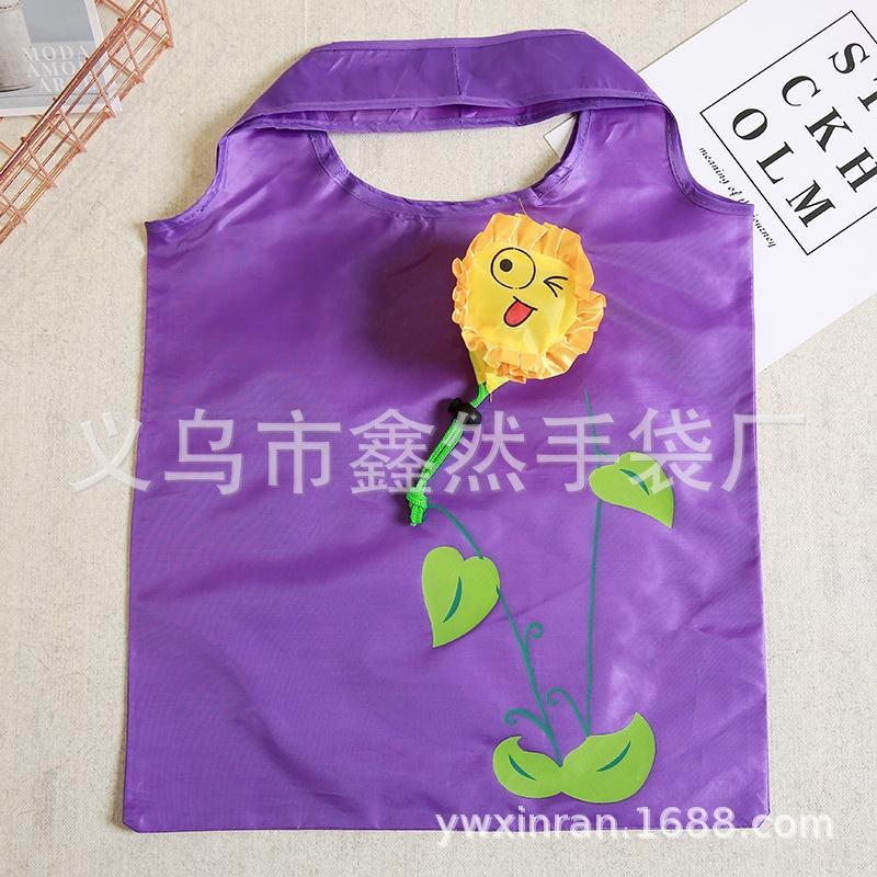 tecido de poliéster Rose dobrar poliéster saco de compras de pano dobrar subiu saco de compras