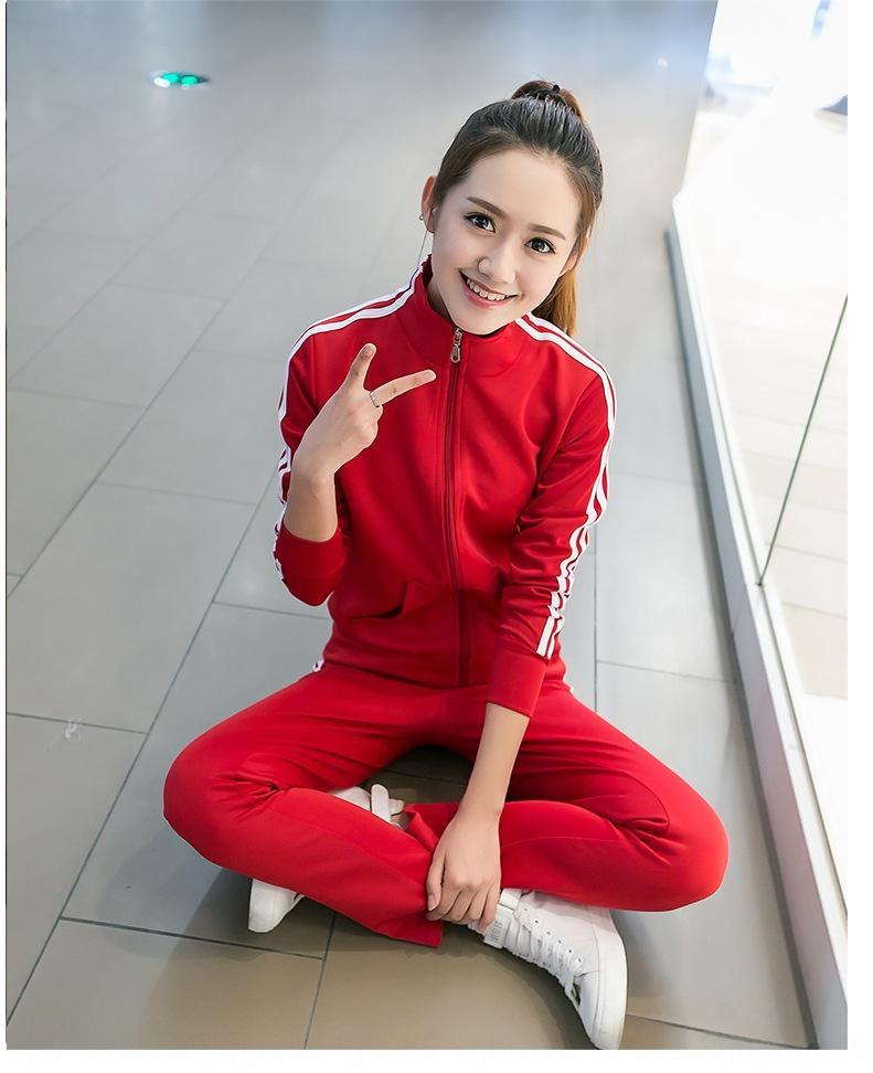 stile coreano 59xrh tre bar moda casual primavera e l'autunno delle donne di sport in esecuzione a maniche lunghe vestito a due pezzi Bar vestito vestito sottile coreano