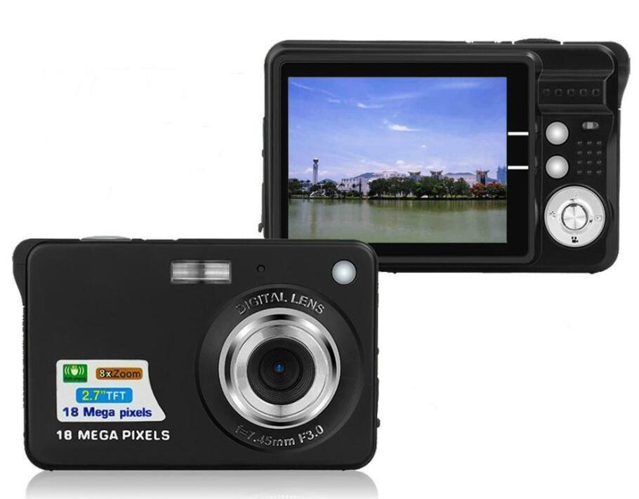 2 nouvelles .7inch 18MP 720p enfants portable mini appareil photo numérique 8 x Zoom Ecran TFT LCD Vidéo Caméscope Anti -Shake enfants Appareil photo cadeau