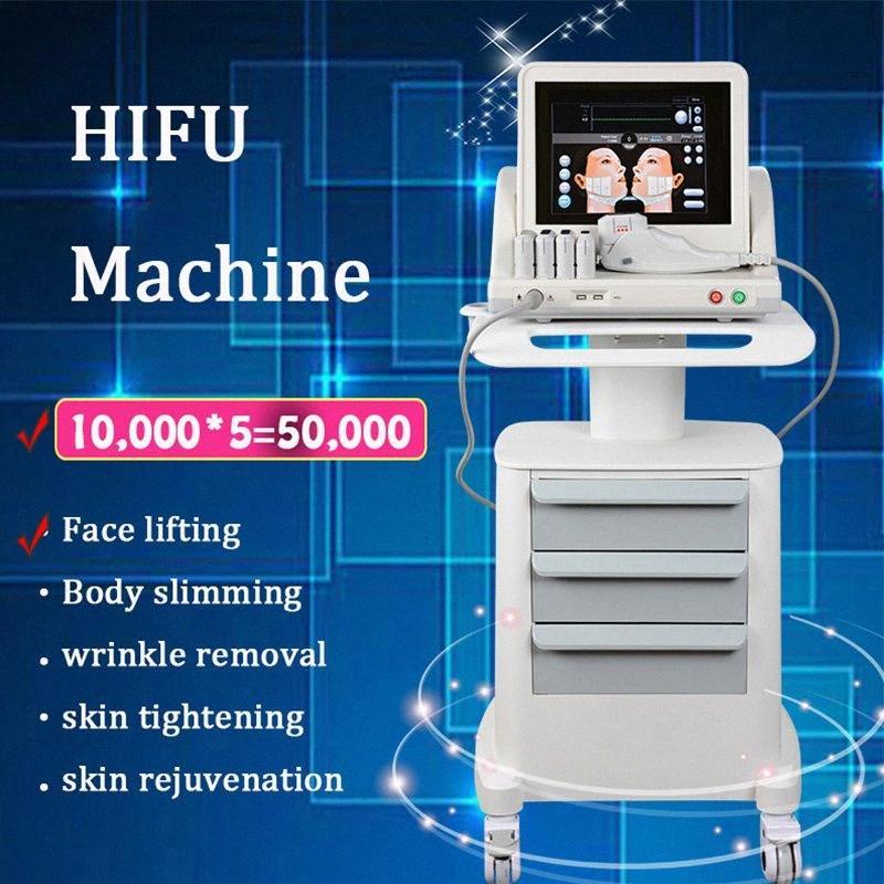 FDA Approved Подтяжки кожи машины HIFU Удаление морщин Устройство HIFU Ультразвук Подъемное лица для тела SPA 2 IN 1 машина вощия машину 0rew #