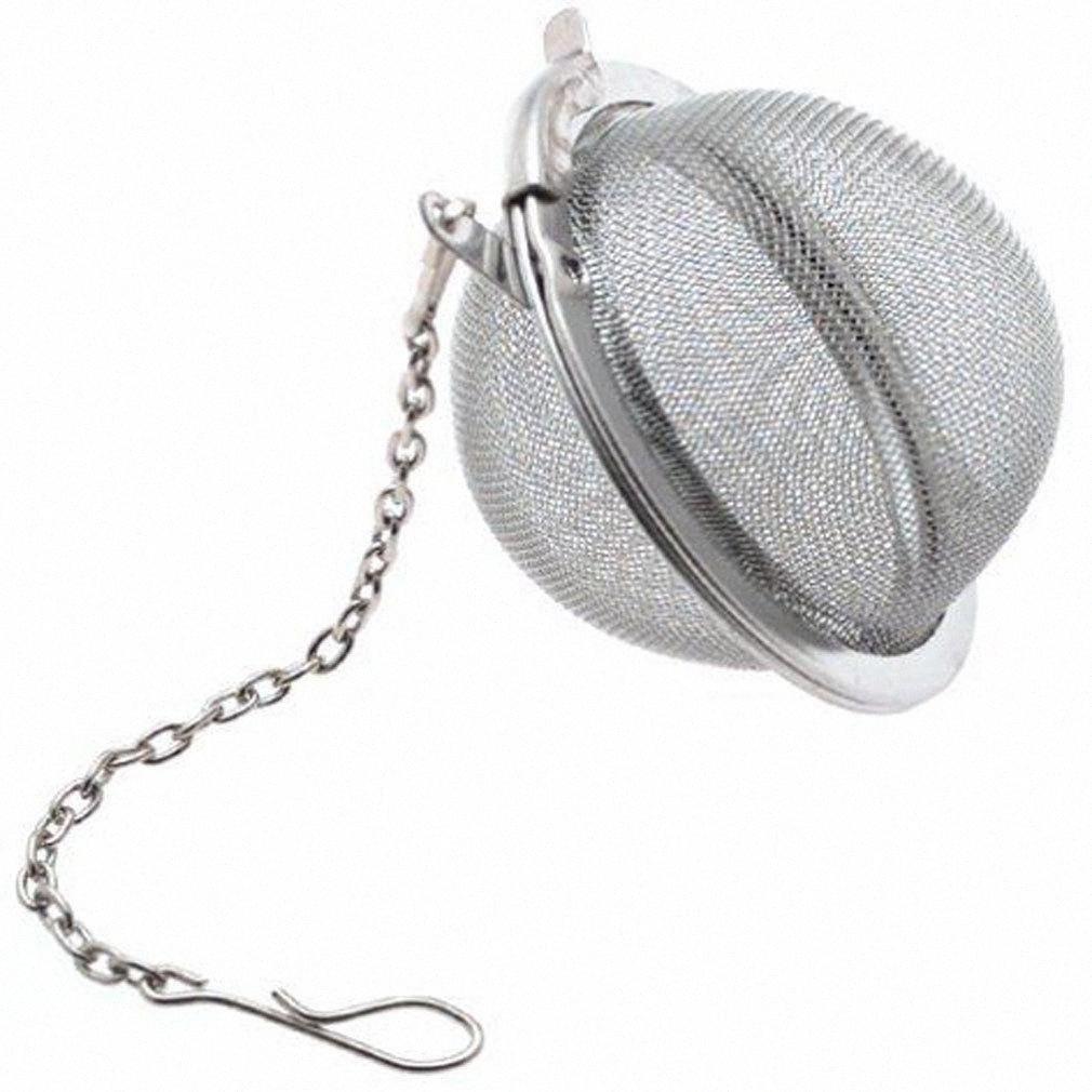 Acero inoxidable del pote del té Infuser Esfera de bloqueo de la especia de la bola de té colador de malla Infuser del tamiz del té Filtro Infusor de envío Pleq #