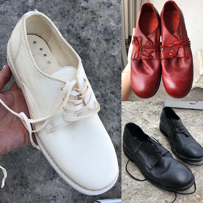 2020 sapatos de alta qualidade Womens tornozelo das mulheres com Toe Rodada Estilo britânico couro macio Cowboy Lace-up Goodyear Craft Sole 992 Martin Botas