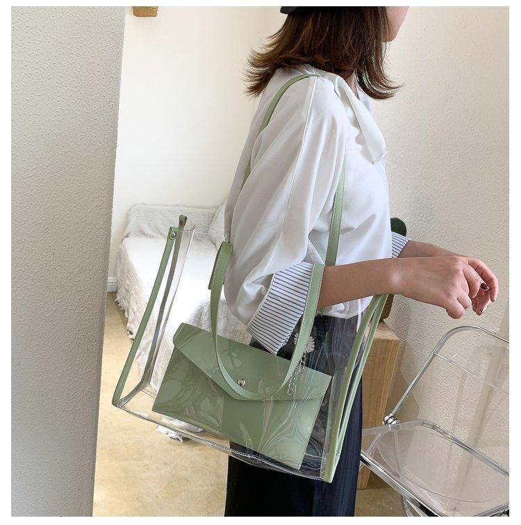 Çantalar için Şeffaf Bolsa Kadınlar PVC Mini Omuz Çantası Kadın 2021 Deri Çanta Crossbody Telefon Kılıfı Küçük Feminina Rvtoe