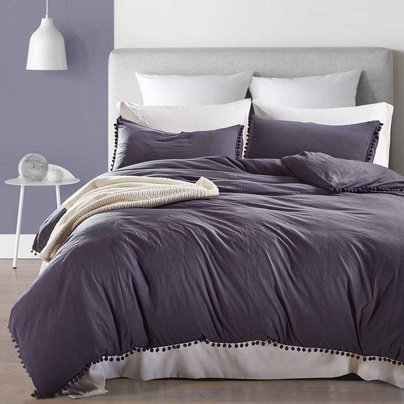 حار أسلوب بلون الفراش مجموعة فرش السرير مجموعة غطاء لحاف مع وسادات 2 / مل 3pcs التوأم الملكة الملك واحدة مزدوجة SIZE