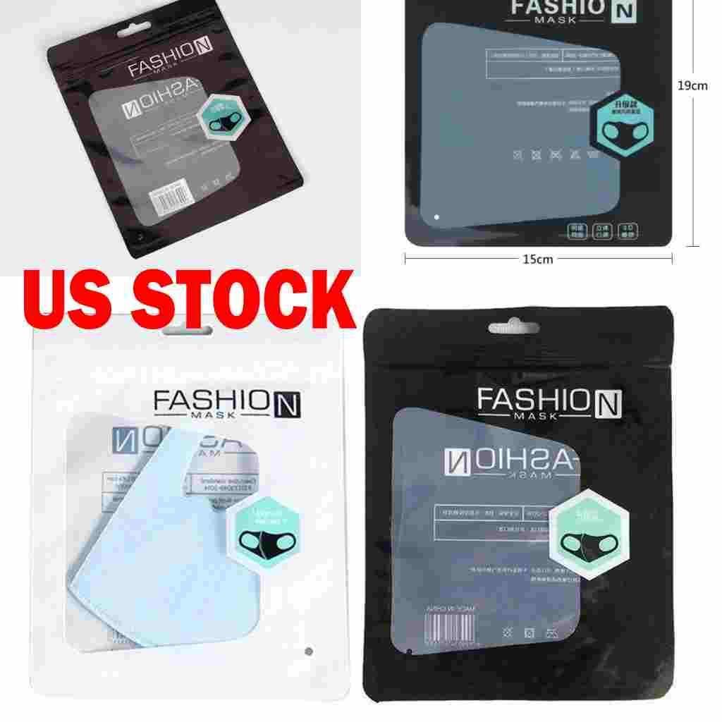 في سوق الأسهم الأزياء حزمة صندوق البيع بالتجزئة التعبئة والتغليف واقية OPP حقيبة سستة الحقائب حقائب زيبر قفل لأقنعة FY7255