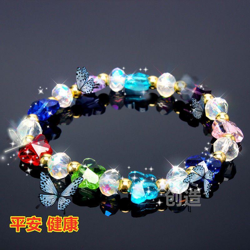 (Buy 1 Get 1 Free) feminino bracelete de cristal do estudante coreano-estilo simples Bracelet Antique Mori refrigeram ornamento