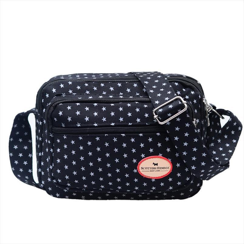 Mulheres Nylon Shoulder Bag para Laidies grande capacidade mamã Messenger Bags Moda Mini Womans Crossbody Bag Zipper Encerramento Femme