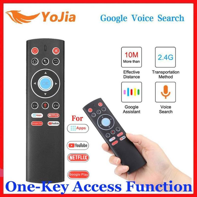 Mini 2.4G Wireless Voice Air Mouse Gyro Remote Control IR Learning For Android TV Box One-key access Function