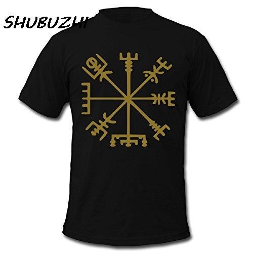 Vegvisir Viking-Kompass T-Shirt aus 100% Baumwolle Kurzarm-T-Shirt Männer beiläufige Marken-Spitzen T