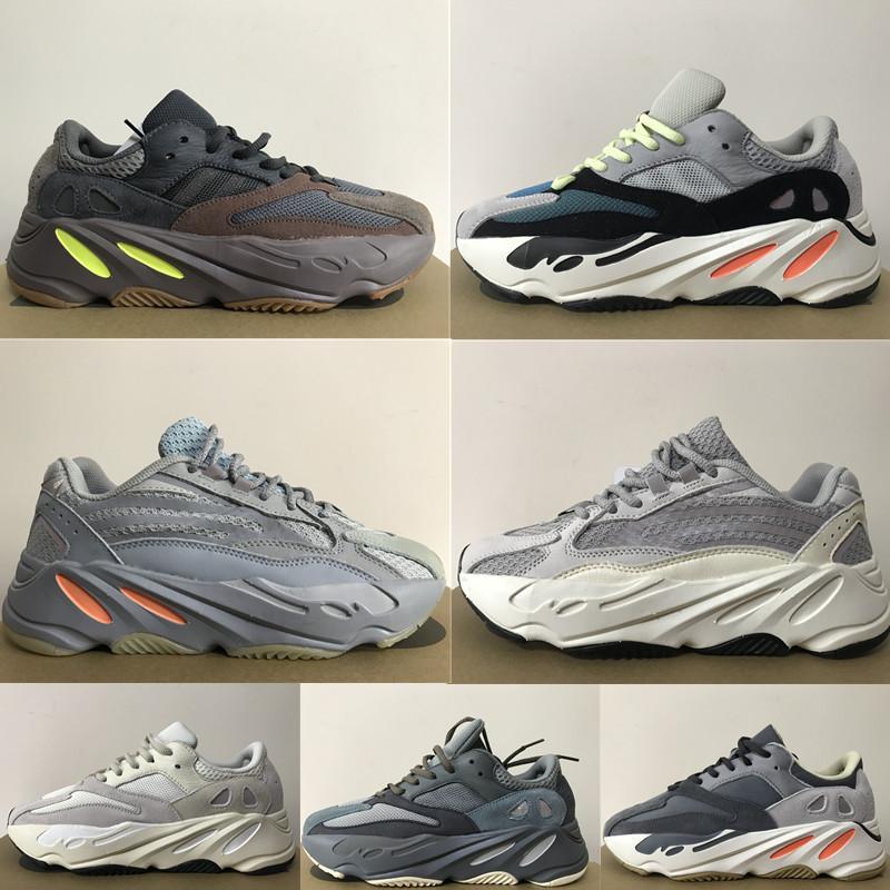 2020 Top Quality Running Shoes 700 Sneakers corridore dell'onda Kanye West carbonio blu V2 Tephra Raffles utilità nero Statico Mens donne con la scatola