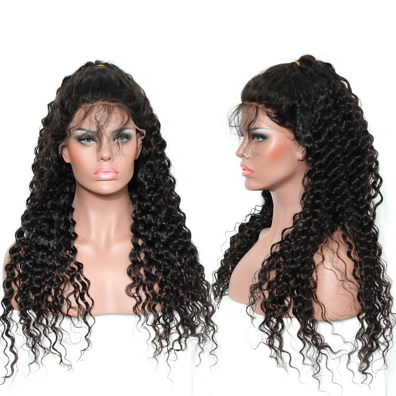 Newest Type 13*6 Kinky Curly Wigs For Women 150% Density Curly Lace Frontal Wig Lace Curly Wig Full Lace Front Human Hair Wigs