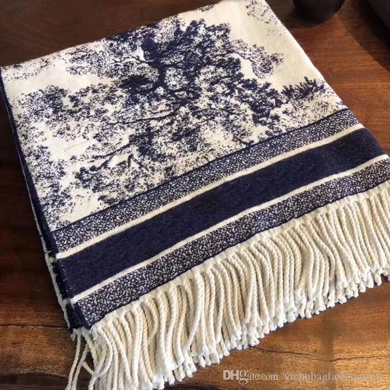 2021 Высокий Qualtiy Print Animal Cashmere Brand Scarf для женщин Дизайнер Роскошные Длинные шарфы с серебряными нитью Шали